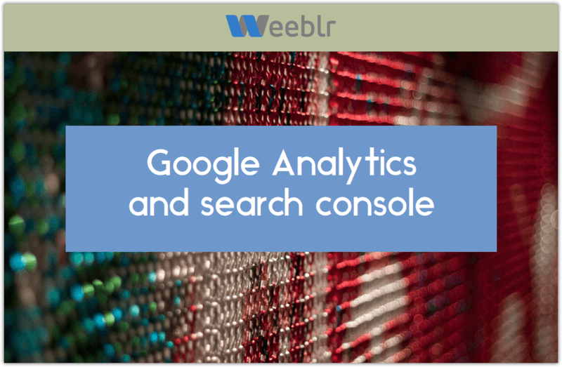 Analytics and Google Search console talk
