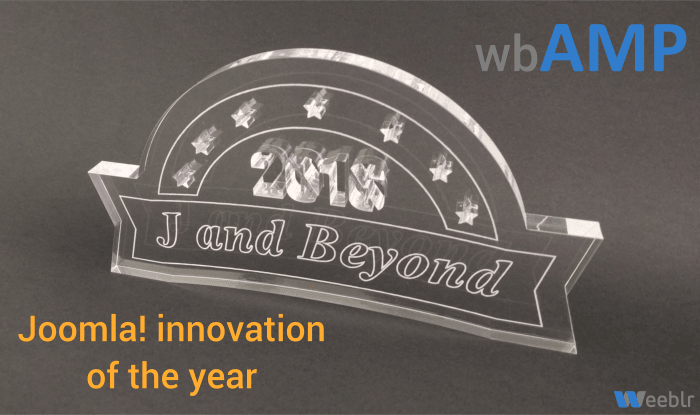 wbAMP trophy at JandBeyond 2016: innovation of the year
