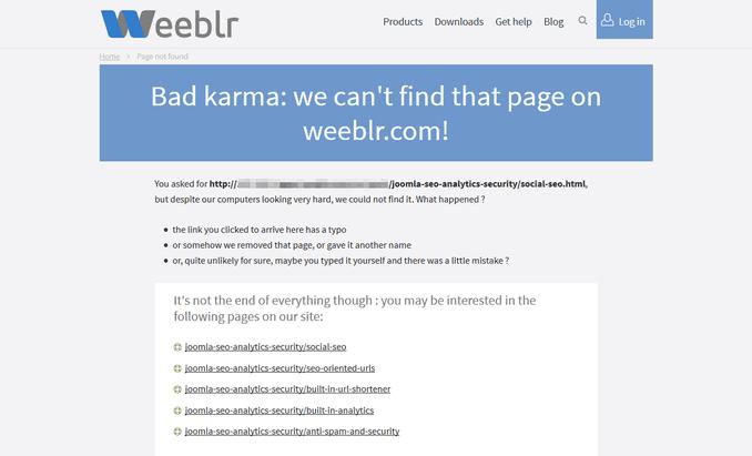 sh404sef error page