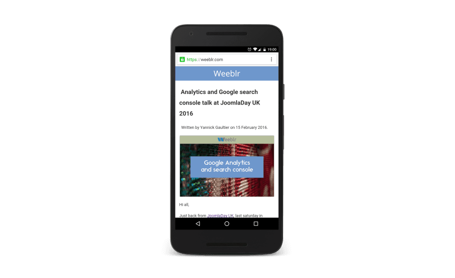 Accelerated Mobile Pages for Joomla on weeblr.com
